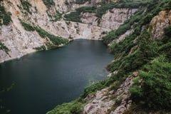 Le paysage scénique de nature de la vieille exploitation de roche dans le nom est Grand Canyon Chonburi à Pattaya, Thaïlande photo stock