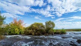 Le paysage sur la rivière d'Ural, le fleuve Irtych, Photos stock