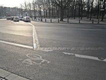 Le paysage sur les rues de Berlin Photos libres de droits