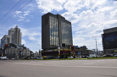 Le paysage urbain à Kiev Photographie stock libre de droits