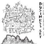 Le paysage urbain d'affaires gribouille l'illustration eps10 Photographie stock libre de droits