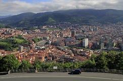 Le paysage urbain de Bilbao - capitale de pays Basque photos stock