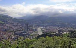 Le paysage urbain de Bilbao - capitale de pays Basque photo libre de droits