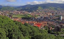 Le paysage urbain de Bilbao - capitale de pays Basque image libre de droits