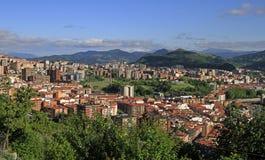 Le paysage urbain de Bilbao - capitale de pays Basque images stock