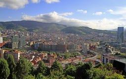 Le paysage urbain de Bilbao - capitale de pays Basque photos libres de droits