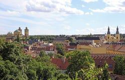 Le paysage urbain de la ville hongroise Eger Photographie stock libre de droits