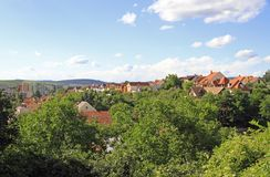 Le paysage urbain de la ville hongroise Eger Images libres de droits
