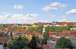 Le paysage urbain de la ville hongroise Eger Photographie stock