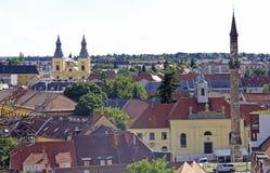 Le paysage urbain de la ville hongroise Eger Photo libre de droits