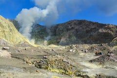 Le paysage volcanique de l'île blanche, Nouvelle-Zélande image libre de droits