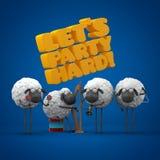 Le pecore fanno festa duro Fotografia Stock