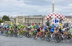 Le Peloton à Paris - Tour de France 2017 Photographie stock libre de droits