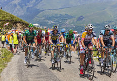 Le Peloton en montagnes Photo stock