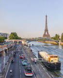 Le Peloton à Paris Image stock
