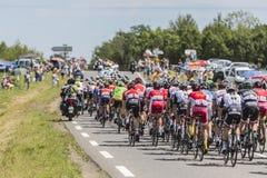 Le Peloton - Tour de France 2017 Photo libre de droits