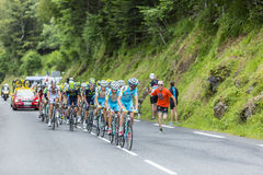 Le Peloton - Tour de France 2014 Images libres de droits