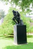 Le penseur d'Auguste Rodin dans Norton Simon Museum Photo libre de droits