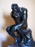 Le penseur, Rodin Bronze Sculpture Photographie stock libre de droits