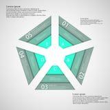 Le Pentagone se composent de trois rubans verts Photo libre de droits