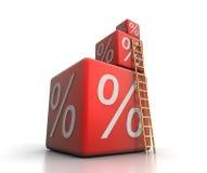 Le percentuali Immagine Stock