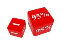 Le percentuali Fotografia Stock Libera da Diritti