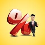 Le percentuali Fotografie Stock