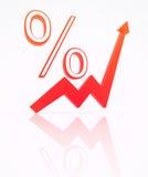 Le percentuali dall'indice Fotografia Stock Libera da Diritti