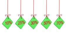 Le percentuali di sconto Immagini Stock Libere da Diritti