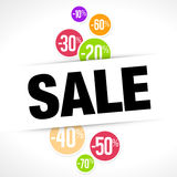 Le percentuali di vendita Immagine Stock Libera da Diritti