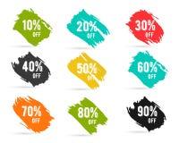 Le percentuali di vendita di Natale, nuovo anno, venerdì nero illustrazione vettoriale
