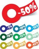 Le percentuali di vendita. Vettore. Immagini Stock Libere da Diritti