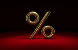 le percentuali dorate 3D Immagine Stock Libera da Diritti