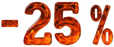 Le percentuali fuori sconto Meno 25, venticinque per cento, numeri Immagini Stock Libere da Diritti