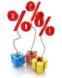 Le percentuali nel regalo Immagine Stock Libera da Diritti