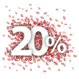 Le 20 percentuali rosse Fotografia Stock