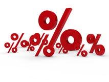 le percentuali rosse di vendita 3d illustrazione vettoriale