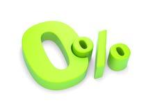 Le percentuali zero Fotografie Stock Libere da Diritti