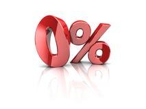 Le percentuali zero Fotografia Stock