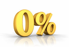 Le percentuali zero dell'oro Immagini Stock