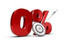 Le percentuali zero di obiettivo Fotografie Stock Libere da Diritti