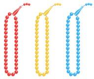 Le perle di preghiera islamiche illustrate come vettore progettano Immagini Stock Libere da Diritti