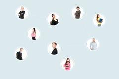 Le persone di affari hanno limitato con la rete. royalty illustrazione gratis