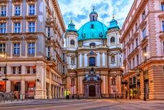 Le Peterskirche de Vienne, Graben, Autriche, aucune personnes image libre de droits