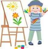 Le petit artiste Photo stock