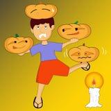 Le petit aventurier de Halloween Images libres de droits