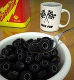 Le petit déjeuner de l'o de pneu Images stock