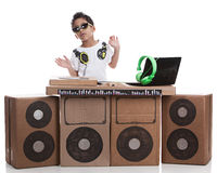 Le petit DJ photographie stock