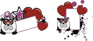 Le petit espace de copie de bande dessinée de style de boule d'ours panda d'Inlove illustration de vecteur