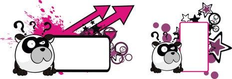 Le petit espace drôle de copie de bande dessinée de style de boule d'ours panda illustration stock